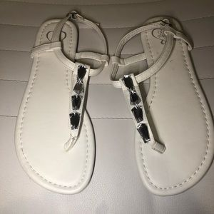 New White Open Toe Sandals